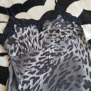 Lane Bryant grey leopard lace cami 22/24 3x